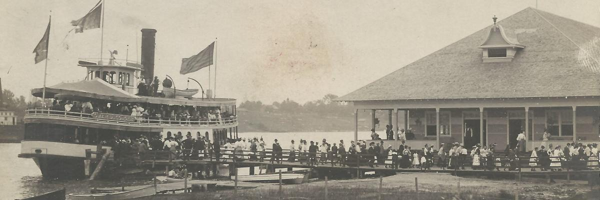 Omar D. Conger at dock of Stag Island